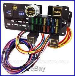 12-circuit Short Wiring Harness Fuse Block Plus For Hot Rod Holden Chev Ford