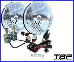 1966-1977 Bronco H4 LED Headlight Conversion withHeavy Duty Wiring Harness Kit