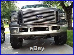 40W LED Pods with Foglight Bracket/Wirings For 05-07 Ford F250 F350 F450 Excursion