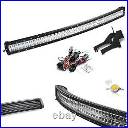40 240W Curved LED Light Bar with Above Bumper Mounts, Wiring For 17+ Ford Raptor