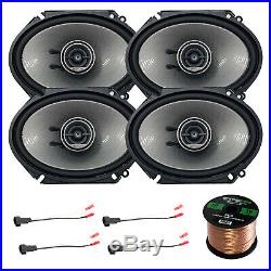 4x Kenwood 360W 6x8 Speakers, 4X Speaker Harness Adapter for Ford, 50Ft Wire