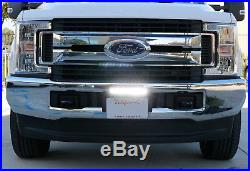 50W CREE LED Lightbar withLicense Plate Mount Bracket Wiring 4 All Truck SUV Jeep