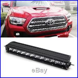 60W CREE LED Light Bar with Hood Scoop Mount Bracket, Wiring For 16+ Toyota Tacoma