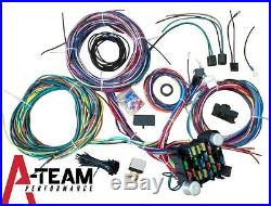 65-73 Ford Mustang 21 Circuit Universal Wiring Harness Wire Kit XL WIRES