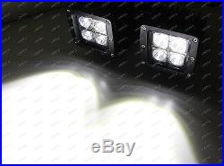 80W Dual LED Pods with Foglight Location Bracket, Wirings For 13-16 Dodge RAM 1500