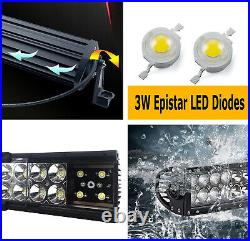 Behind Grille Mount 20 LED Light Bar withBrackets For 2011-21 Jeep Grand Cherokee