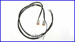 CVO Dual Cut Extended Rear Fender w LED + Wire Harness for 09-13 Harley Touring