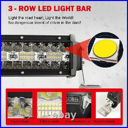 Curved 52 LED Light Bar for Off Road 4x4 Driving Fog Roof Bar wiring Harness