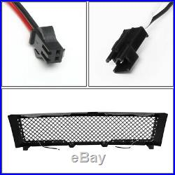 Diamond Mesh LED DRL Front Grille withWiring Harness for Silverado Sierra 07-14