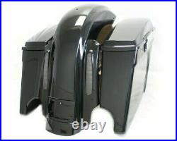 Extended saddlebags with CVO Dual Cut Stretched Rear Fender 4 Harley Touring 09-13