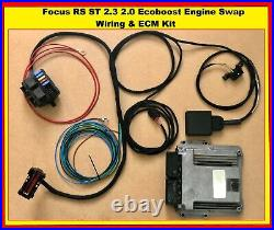 Ford Focus RS ST 2.3 2.0 Ecoboost Engine Swap wiring harness and ECM Kit Adapter