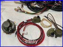 Harley 4736-42M 1942-45 WLA Premium Wiring Harness Kit with NOS Switches USA