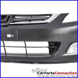 JDM Front Bumper Cover Conversion Foglight Clear Pair Grille For Accord 4D 03-07