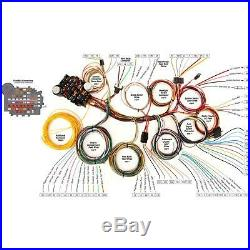 Speedway 22 Circuit Universal Street Rod Wiring Harness with Detailed Instructions