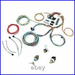 Universal 24 Circuit 15 Fuse Dash Wiring Harness Xtra Long Wire Chevy GM Hot Rod