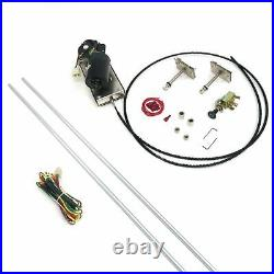 Vintage Car / Truck Wiper Kit w Wiring Harness cable drive hood hot rod 12-VOLT