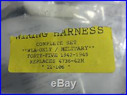 WLA/military 1942-1945 forty five 4736-42m Main Wiring Harness