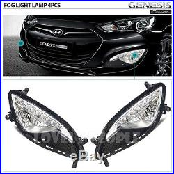(for Hyundai Genesis Coupe 2013)OEM Fog Light Lamp Complete Kit, Wiring Harness